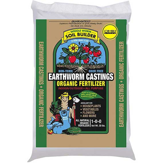 Unco Industries Wiggle Worm Organic Earthworm Castings Fertilizer